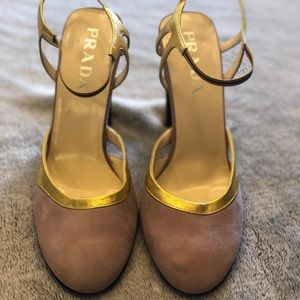 Purple and Gold Prada heels size 39 9 US